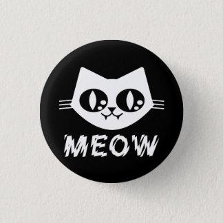 Goth PunkKittymeow-Button Runder Button 2,5 Cm