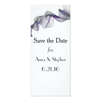 Goth schwarze u. lila Schleier-Save the Date Karte