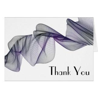 Goth schwarzer u. lila Schleier danken Ihnen Karte