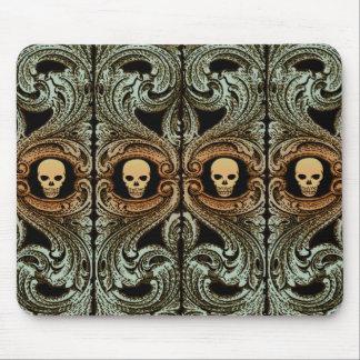 Goth weises Grün-Verzierung mit dem Schädel Mauspads