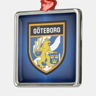 Gothenburg-Flagge Silbernes Ornament