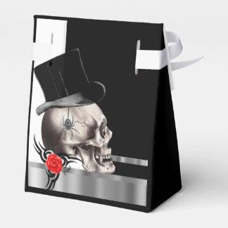 Gotische Bräutigamschädel goth Geschenkschachtel