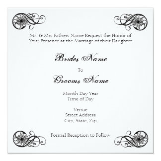 Gotische Eleganz Quadratische 13,3 Cm Einladungskarte