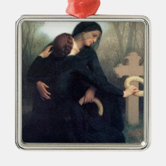 Gotische Frauen Bouguereau des schwarzen Silbernes Ornament