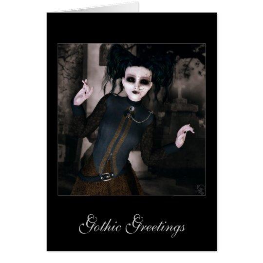 Gotische Grüße Grußkarte