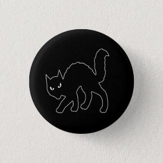 Gotische Halloween beängstigende Kitty-Katze Runder Button 3,2 Cm