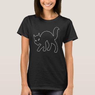 Gotische Halloween beängstigende Kitty-Katze T-Shirt