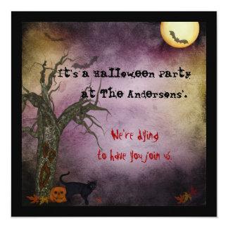 Gotische Himmels-Halloween-Einladung Karte
