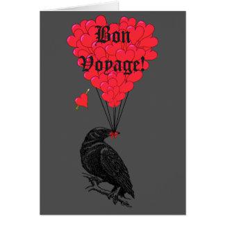 Gotische Krähe und Herz gute Reise Mitteilungskarte