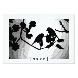 Gotische Liebe-Vogel-Silhouetten UAWG Karten 8,9 X 12,7 Cm Einladungskarte