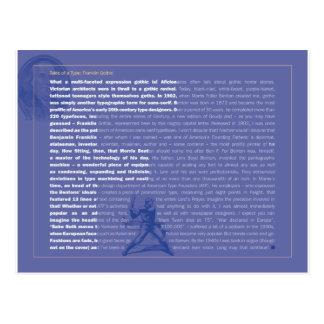 Gotische Postkarte Franklins