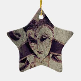 Gotische Renaissance-schlechter Clown-Joker Keramik Stern-Ornament