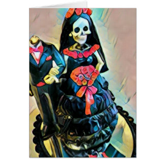 Gotische skeleton Leichenhochzeitskarte Karte