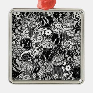 gotische Spitze Silbernes Ornament