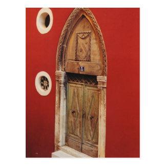 Gotische Tür Postkarte
