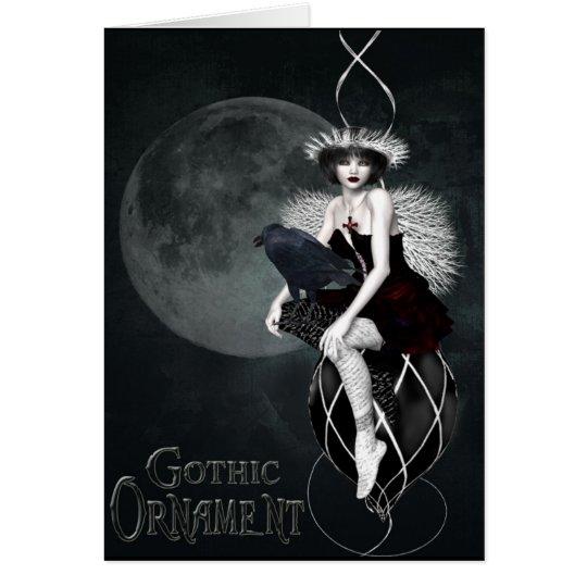 gotische Verzierung Grußkarte
