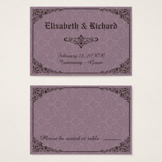 Gotische viktorianische visitenkarte