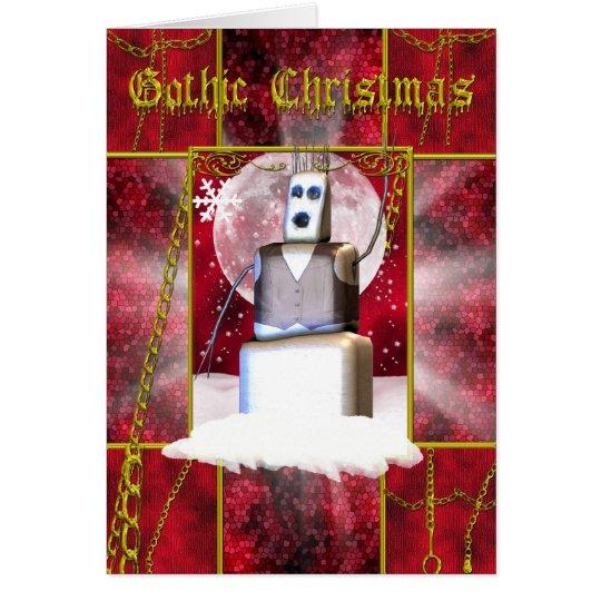 Gotische Weihnachtskarte mit gotischem snoman Grußkarte
