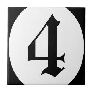 Gotischer Adressenzahlkreis Keramikfliese