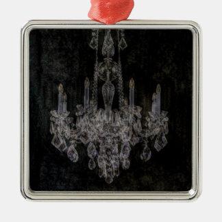 Gotischer beunruhigter Leuchter des Vintagen Silbernes Ornament