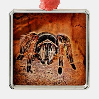 Gotischer Halloween gruseliger crawlies Spinne Silbernes Ornament