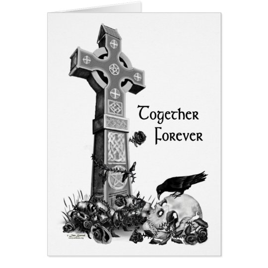 Gotischer Valentinsgruß Karte