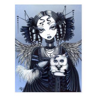 Gotischer viktorianischer persische Katzen-Engel Postkarte