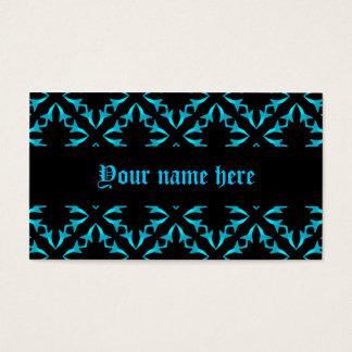 Gotisches blaues und schwarzes Kaleidoskop Visitenkarte