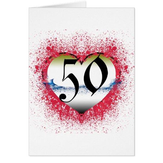 Gotisches Herz 50. Karte