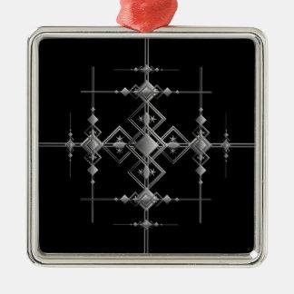 Gotisches metallisches Muster Silbernes Ornament