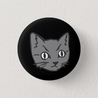 Gotisches Miezekatze-Katzen-Gesicht Runder Button 2,5 Cm