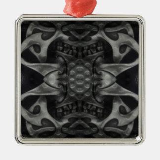 Gotisches mittelalterliches metallisches der quadratisches silberfarbenes ornament