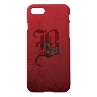 Gotisches Rosen-Monogramm B iPhone 7 Hülle