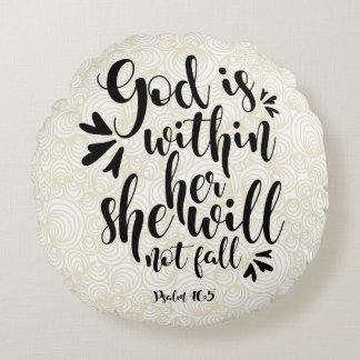 GOTT 5 DES PSALM-46 IST INNERHALB SIE RUNDES KISSEN