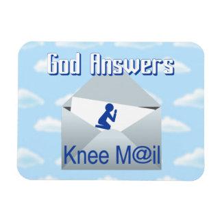 Gott beantwortet Knie-Post-Geschenk-Magneten Magnet