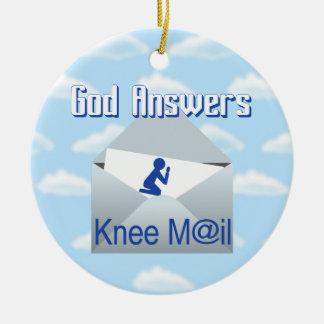 Gott beantwortet Knie-Post-Geschenk-Verzierung Keramik Ornament