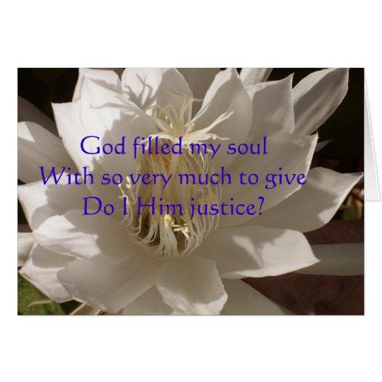 Gott gefüllte Soul-Karte Grußkarte