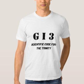 Gott in drei (gotische Schriften) T-shirts