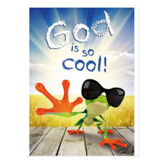 GOTT IST - christlich SO COOL, religiös, Glaube Postkarte