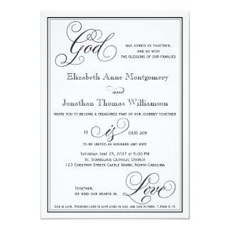Gott ist Liebe-christliche 12,7 X 17,8 Cm Einladungskarte