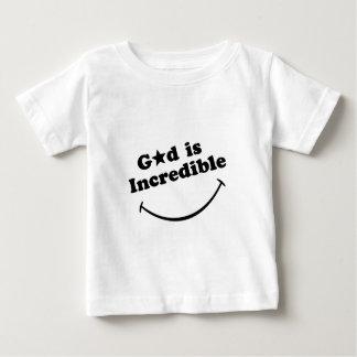 Gott ist - Schwarzes auf Weiß unglaublich Baby T-shirt