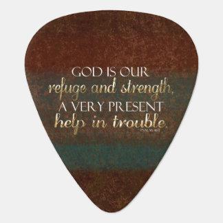 Gott ist unser Schutz-christlicher Bibel-Vers Plektron