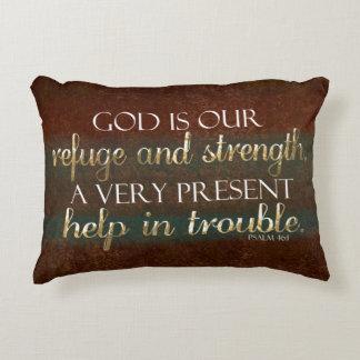 Gott ist unser Schutz-christlicher Bibel-Vers Zierkissen