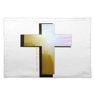 Gott-Lieben alles Kreuz Tischset