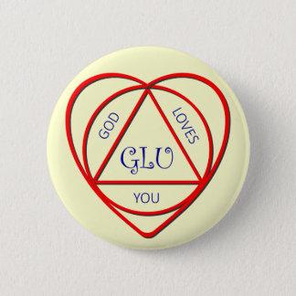 Gott-Lieben Sie - universelles Symbol des Glaubens Runder Button 5,7 Cm
