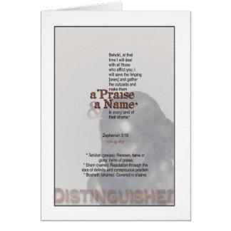 Gott macht Sie einen Namen - Zephaniah 3:19 Karte