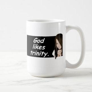 Gott mag Dreiheit. Russischer Sprichwortkaffee Kaffeetasse