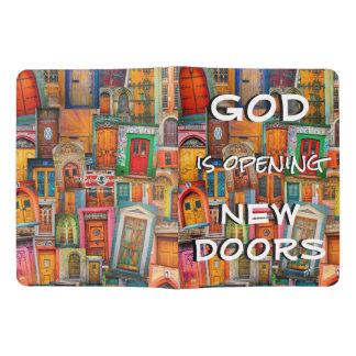 Gott öffnet Tür-buntes einzigartiges Extra Großes Moleskine Notizbuch