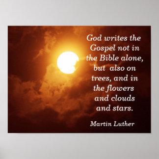 Gott schreibt das Evangelium - Kunst-Druck Poster
