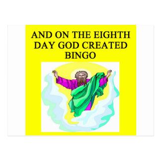 Gott schuf Bingo Postkarten